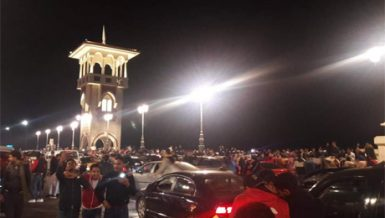 Defying COVID-19 measures, hundreds gather to celebrate New Year in Alexandria