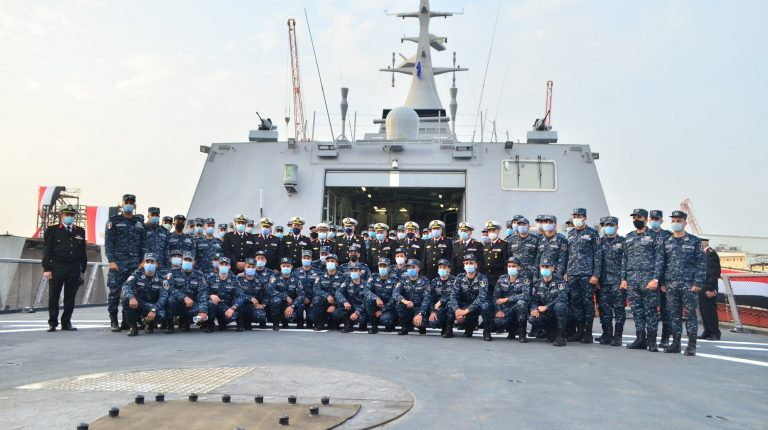"""The Egyptian Navy received, on Monday, the first locally manufactured Gowind model stealth frigate, which has been named """"Port Said""""."""