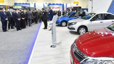 Egypt's President Abdel Fattah Al-Sisi inaugurated, on Monday, the country's first Go Green Exhibition to showcase technologies for converting vehicles to run on natural gas.