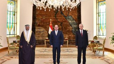 Al-Sisi's remarks came during his meeting with Arab Parliament Speaker Adel Abdul-Rahman Al-Asoumi, Speaker of the Egyptian Parliament Hanafi Jabali, and Minister of Foreign Affairs Sameh Shoukry. National security