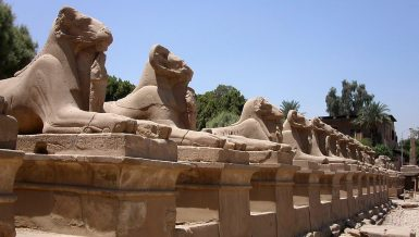 Egypt's Minister of Tourism and Antiquities Khaled Al-Anani and Supreme Council of Antiquities Secretary-General Mostafa Waziri have inaugurated the largest renovation project to save 29 ram statues at the Karnak Temple.