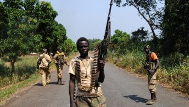 The Central African Republic army exchanged fire with suspected rebel fighters on Wednesday morning at the northern entrance to the capital of Bangui, local media reported.