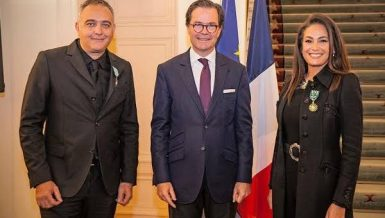 Hend Sabry, Mohamed Hefzy receive France's Order of Arts and Letters