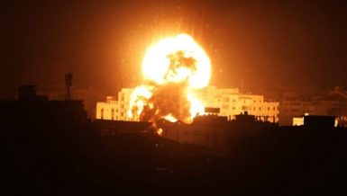 Israeli tank fired artillery into the Gaza Strip for the second time on Wednesday after additional gunshots were fired from the Palestinian enclave, said Israeli military.