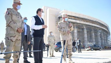 Egypt's President Abdel Fattah Al-Sisi undertook an inspection tour of the New Administrative Capital (NAC)