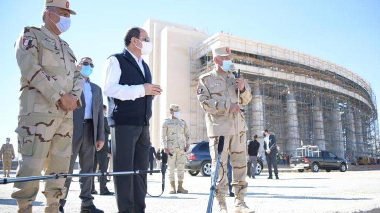 Egypt's President Abdel Fattah Al-Sisi undertook an inspection tour of the New Administrative Capital (NAC)