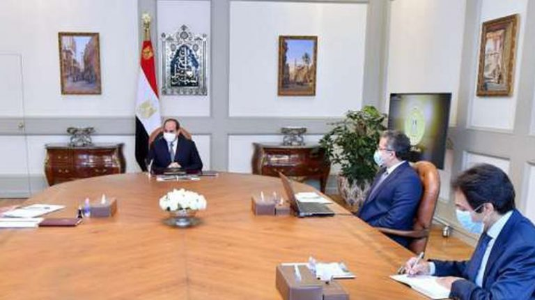 Al-Sisi directs for continued work on Egyptian tourism, archaeology-related projects