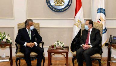 Egypt's Petroleum Minister, BP discuss joint business, international oil prices