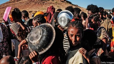 The Ethiopian Red Cross said Wednesday that 80 percent of the country's conflict-hit Tigray region was cut off from humanitarian assistance and warned tens of thousands could starve to death.