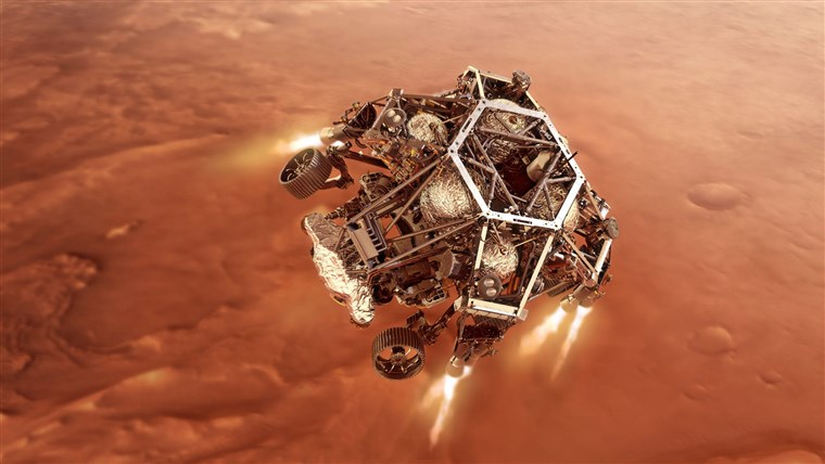 NASA's Perseverance rover touched down safely on Mars on Thursday, in search of signs of ancient life on the Red Planet.
