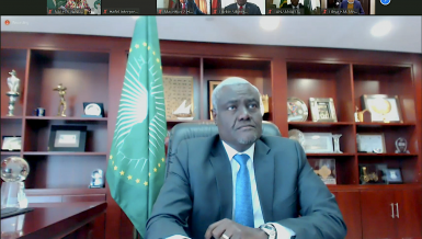Chairperson of the African Union (AU) Commission Moussa Faki Mahamat