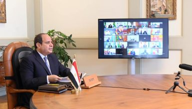 Egypt's President Abdel Fattah Al-Sisi asserted, on Saturday, the importance of strengthening joint African efforts to combat the repercussions of the novel coronavirus (COVID-19) pandemic on the continent's economy, health, and security.