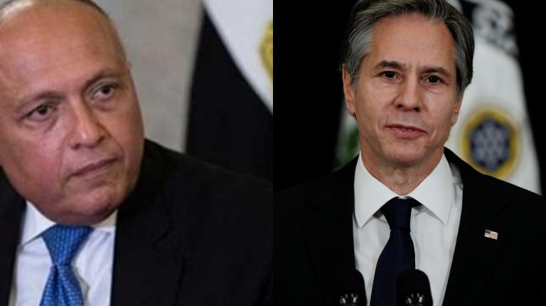 Egypt's Foreign Minister Sameh Shoukry received, on Tuesday, a phone call from his US counterpart Antony Blinken. The US Secretary affirmed that he looks forward to strengthening Egypt-US partnership, adding that bilateral security interests must align with mutual respect to democracy, human rights, and civil society.