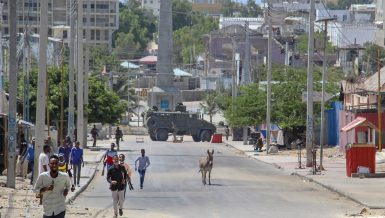 The statement came amid sporadic gunfire and rockets exploded on the streets of Mogadishu as security forces clashed with protesters pushing for delayed national elections.
