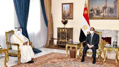 Egypt's President Abdel Fattah Al-Sisi received the Gulf Cooperation Council (GCC) Secretary-General Nayef Falah Al-Hajraf