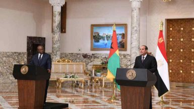 Al-Sisi, Guinea-Bissau counterpart discuss counterterrorism, GERD negotiations