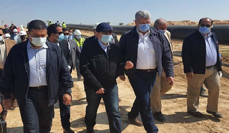 Petroleum Minister inspects gas pipeline project in New Alamein