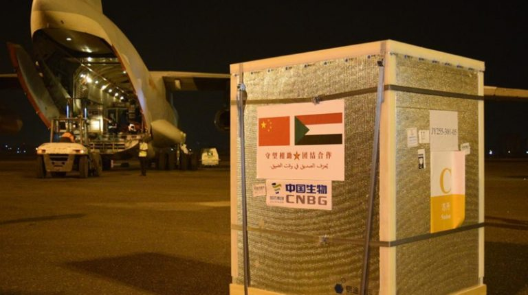 China-donated Sinopharm COVID-19 vaccines arrive in Sudan