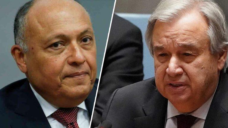 Egypt's Shoukry, UN Secretary-General discuss Ethiopia's Nile dam developments