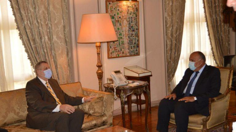 Egypt's Shoukry, UN representative discuss ways to achieve political settlement in Libya