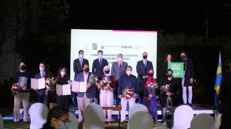 Swedish Embassy, enpact host hybrid graduation ceremony for Healthcare Innovation Programme in Egypt