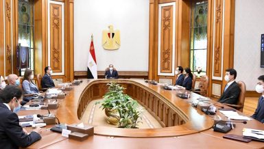 Egypt's Al-Sisi, Hyundai Rotem CEO discuss localising train industry
