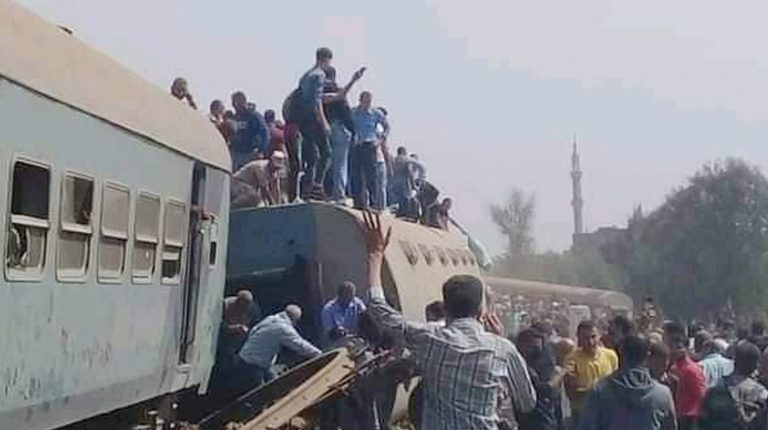 97 injured as train derails in Banha en route to Mansoura: Health Ministry