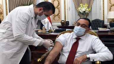 Egypt's PM Mostafa Madbouly receives 1st shot of COVID-19 vaccine
