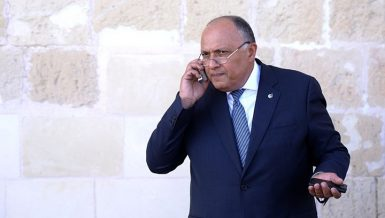 Egypt's Minister of Foreign Affairs Sameh Shoukry stressed the need to stop Israeli attacks on Palestinian territories.