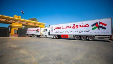 Egypt's Tahya Misr Fund dispatches 3rd humanitarian convoy to Gaza