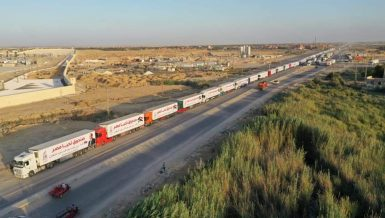 Egypt provides 130 trucks of aid to Palestinians