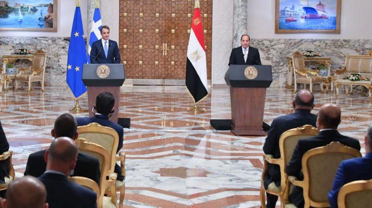 Egypt, Greece leaders discuss GERD. eastern Mediterranean developments
