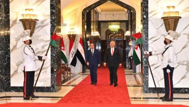 Egypt's Al-Sisi in Baghdad for tripartite summit with Iraq, Jordan