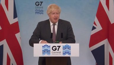 British Prime Minister Boris Johnson admitted that selfish and nationalistic approaches had marred the initial global response to the COVID-19 pandemic