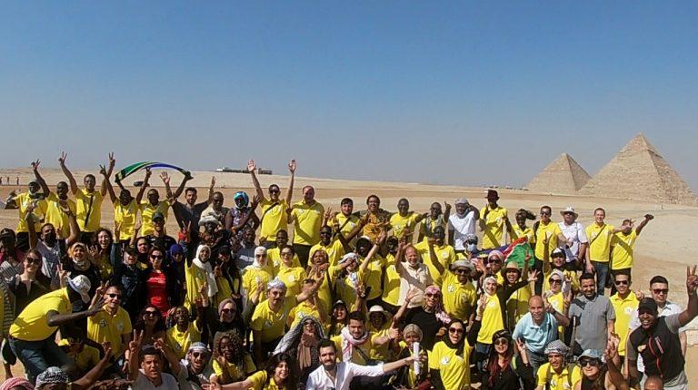 2nd Nasser Fellowship cohort visits Giza, Saqqara Pyramids