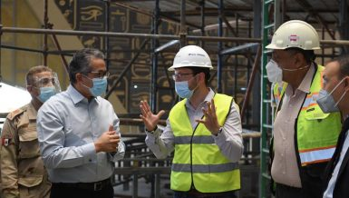 Installation work on atrium, grand staircase completed at Grand Egyptian Museum