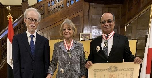Japanese Embassy in Egypt confers top awards on Presidential Adviser, former ambassador