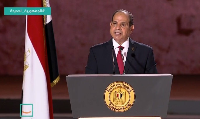 """Egypt's President Abdel-Fattah Al-Sisi said on Thursday that Egypt's national security is """"a red line that cannot be crossed"""
