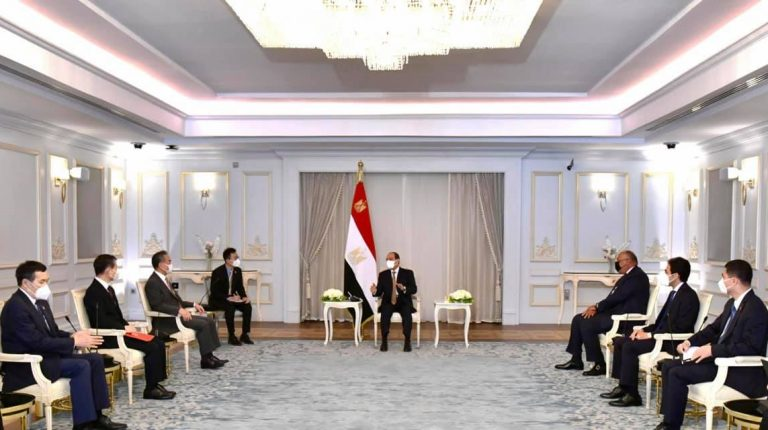 Egypt President Abdel Fattah Al-Sisi received, on Sunday, China's Minister of Foreign Affairs Wang Yi