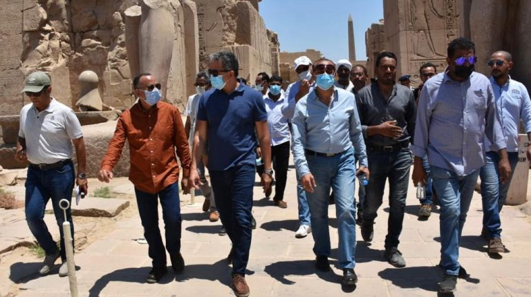 Egypt's Tourism, Antiquities Minister inspects Karnak Temple Complex ahead of Sphinxes Avenue reopening
