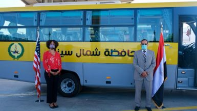United States grants 20 public transportation buses to North Sinai