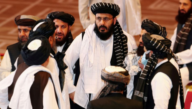 A high-level delegation of Afghan Taliban representatives met with a U.S. delegation in the Qatari capital Doha Saturday,