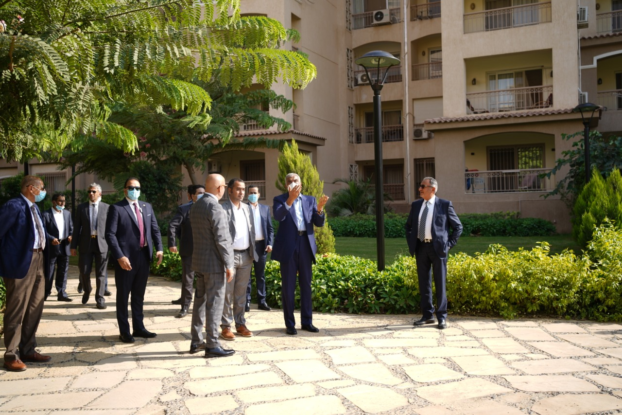 Hisham Talaat Mostafa receives Egypt's Minister of Housing, Saudi Minister of Housing, a high-level delegation from KSA in Madinaty